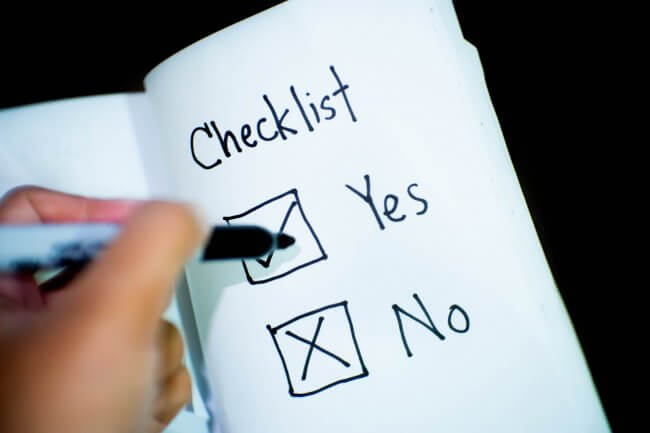 YOUR CHECKLIST FOR A HIGH PROFIT COMPANY